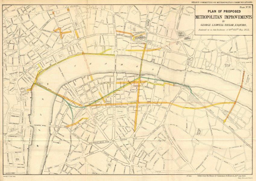 Associate Product London road/rail plans.EMBANKMENT CHARING CROSS QUEEN VICTORIA STREET 1855 map
