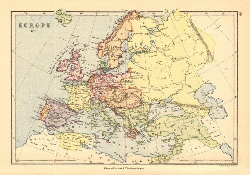 Associate Product 'Europe 1878'. Ottoman & Austrian Empires. BARTHOLOMEW 1876 old antique map