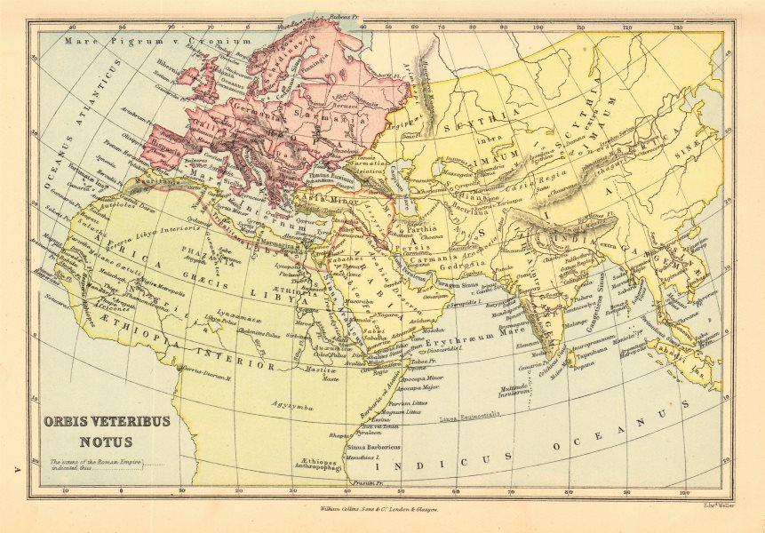 Associate Product ANCIENT WORLD. 'Orbis Veteribus Notus'. BARTHOLOMEW 1876 old antique map chart
