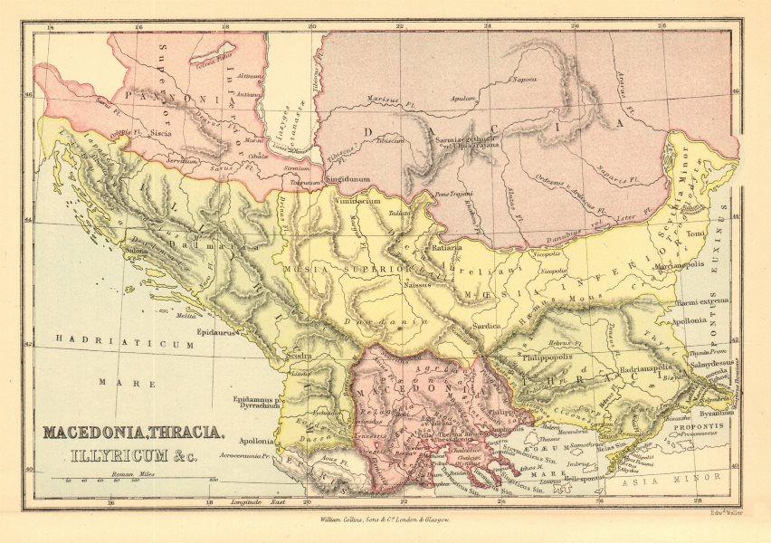 Associate Product ANCIENT GREECE NORTH. 'Macedonia, Thracia, Illyricum &c.'. BARTHOLOMEW 1876 map