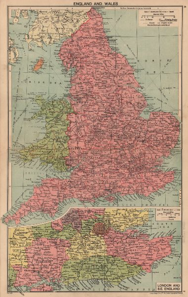 Associate Product SECOND WORLD WAR. England and Wales in 1940. South East England 1940 old map