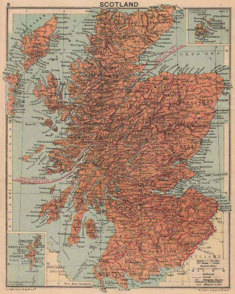 Associate Product WORLD WAR 2. 1940 Scotland. Shows aliens protected area in Highlands 1940 map