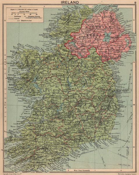 Associate Product SECOND WORLD WAR. Ireland in 1940 1940 old vintage map plan chart