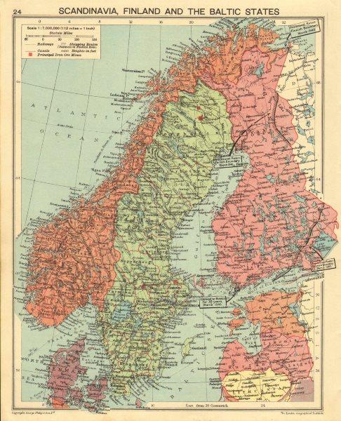 Associate Product WORLD WAR TWO. Russo-Finland borders March 1940 post Winter War. Hango 1940 map