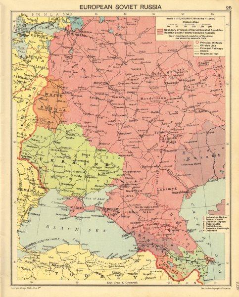 Associate Product WORLD WAR TWO. European Soviet Russia. Russian Crimea. Poland/Finland 1940 map