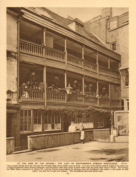 Associate Product The George Inn, Borough High Street. The last Southwark hostelry 1926 print