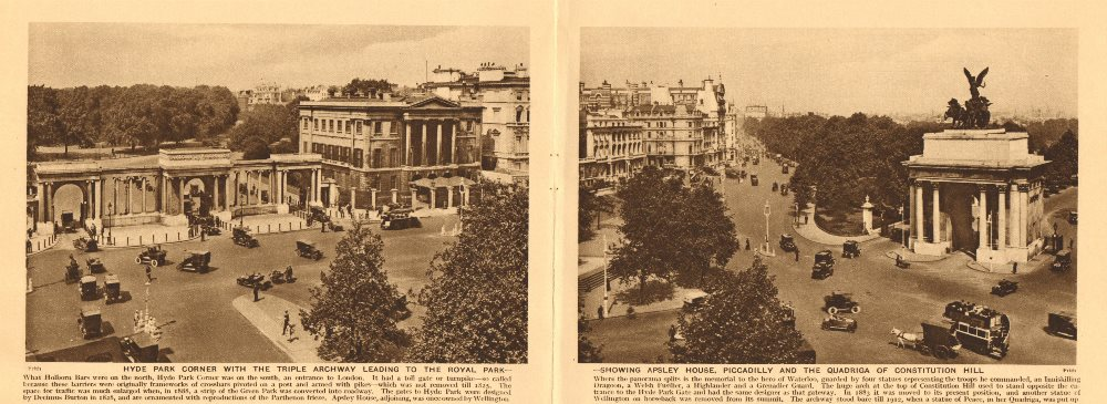 Associate Product Hyde Park Corner. Apsley House, Piccadilly. Quadriga of Constitution Hill 1926