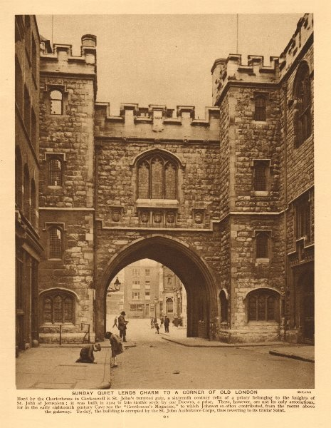 Associate Product St John's gate, Clerkenwell 1926 old vintage print picture