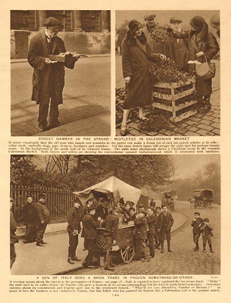 Associate Product Strand street hawker. Mistletoe Caledonian Market. Ice-cream vendor 1926 print