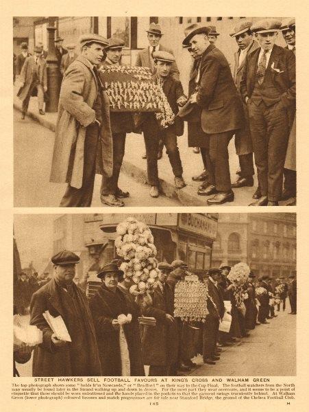 Associate Product Selling football favours/match programmes. Stamford bridge. Chelsea 1926 print