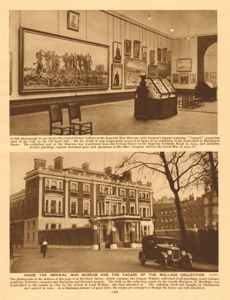 Associate Product Imperial War Museum.Wallace Collection,Manchester Square,Marylebone 1926 print