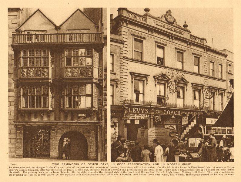 Associate Product Prince Henry, 17 Fleet Street. Coach & Horses Inn, 108, Notting Hill Gate 1926