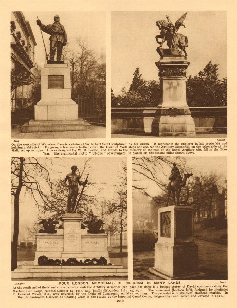 Associate Product London Memorials. Robert Scott. Machine Gun Corps. Imperial Camel Corps 1926