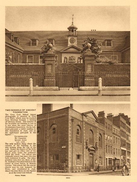 Associate Product Grey Coat School,Strutton Ground.St Andrew's Parochial School,Hatton Garden 1926