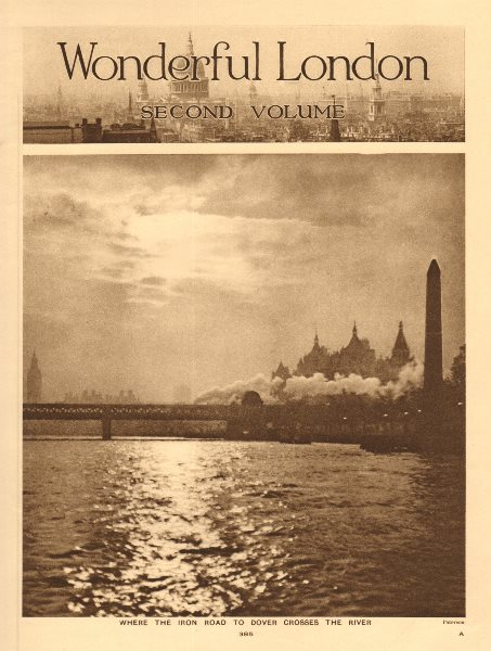 Associate Product Where the railway to Dover crosses the Thames river 1926 old vintage print