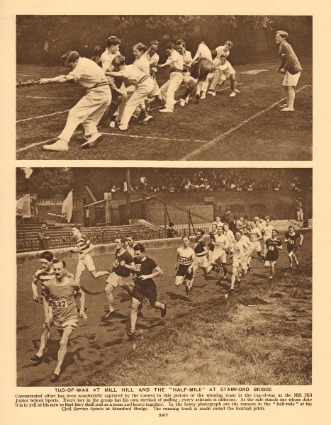 Associate Product Tug-of-war at Mill Hill and the ''Half-Mile'' at Stamford Bridge 1926 print