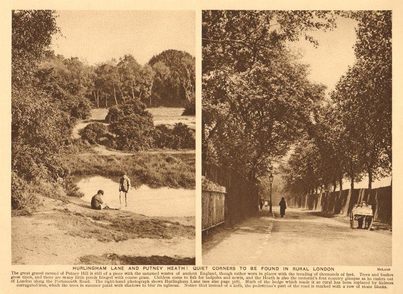 Putney Heath. Hurlingham Lane; stone blocks instead of kerb. Rural London 1926