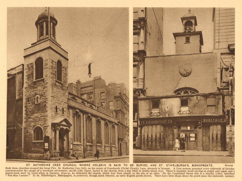 Associate Product St. Katherine Cree church, Leadenhall Street. St. Ethelburga's, Bishopsgate 1926