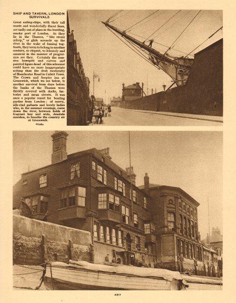 Associate Product Schooner, Manchester Road, Cubitt Town. Crown & Sceptre Inn, Greenwich 1926