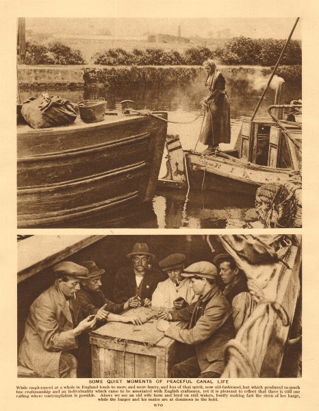 Associate Product Some quiet moments of peaceful canal life 1926 old vintage print picture