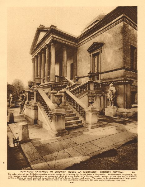 Associate Product Porticoed entrance to Chiswick House, an eighteenth century survival 1926