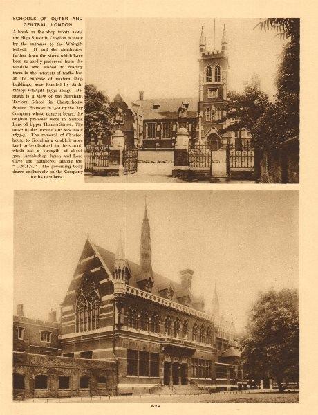 Associate Product Whitgift School Croydon. Merchant Taylors School Charterhouse Square 1926