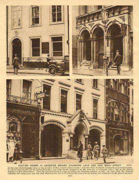 Associate Product London auction rooms. Puttick & Simpson. Hodgson's.Sothebys New Bond Street 1926