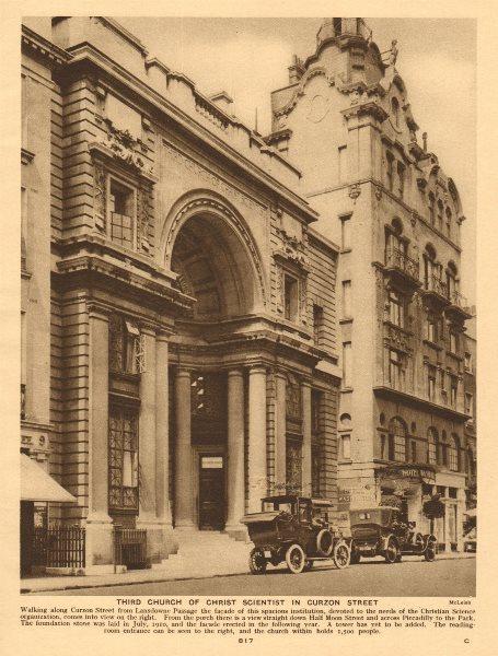 Associate Product Third Church of Christ Scientist, Curzon Street, Mayfair. Christian Science 1926