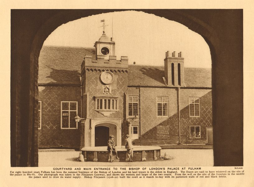 Courtyard and main entrance to the Bishop of London's Palace at Fulham 1926