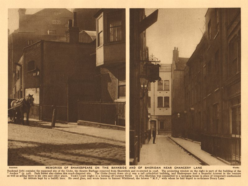 Associate Product Bank End/ Anchor pub Bankside. Took's Court, Cursitor Street, Chancery Lane 1926