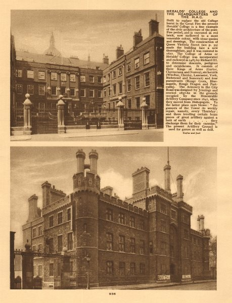 Associate Product Heralds College of Arms. Armoury House. Honourable Artillery Company HAC HQ 1926