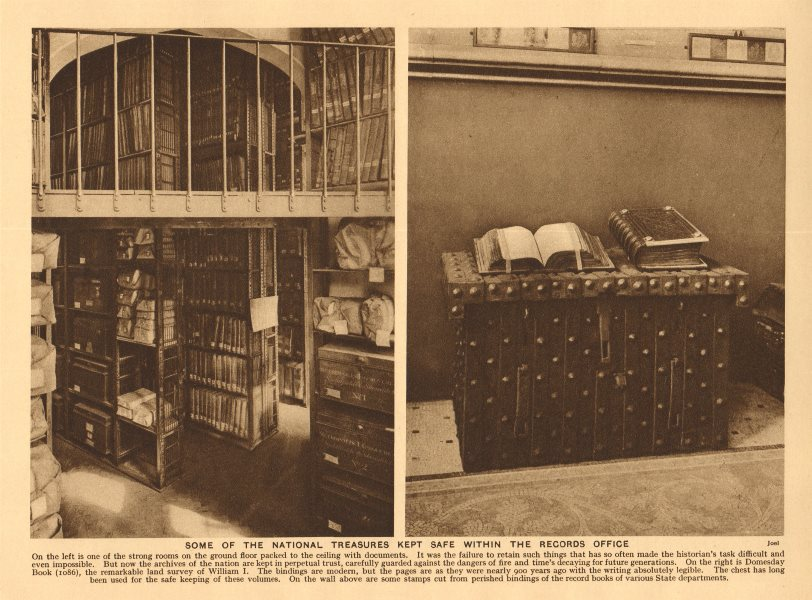 Associate Product Public Record Office (Maughan Library) Chancery Lane. Domesday Book 1926 print