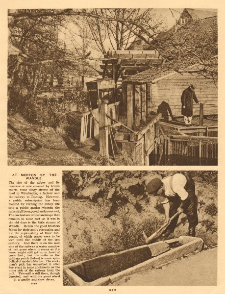 Associate Product At Merton by the Wandle 1926 old vintage print picture