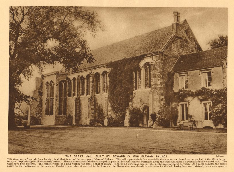 Associate Product The Great Hall built by Edward IV. for Eltham Palace 1926 old vintage print