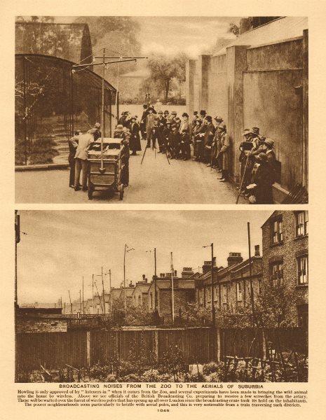 Associate Product British Broadcasting Company animal noises London Zoo trial radio broadcast 1926