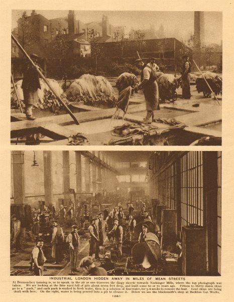 Associate Product Tannery, Neckinger Mills, Bermondsey. Blacksmith's shop, Beckton Gas Works 1926