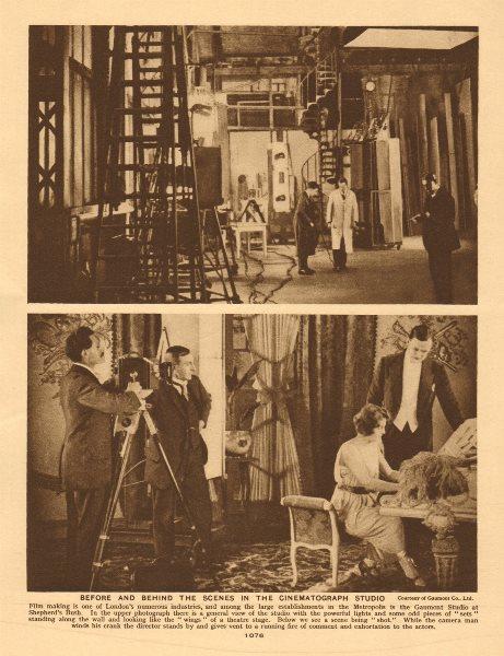 Associate Product Gaumont Film Studios, Shepherd's Bush. Cinematograph studio 1926 old print