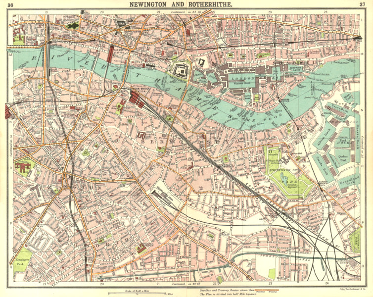 Associate Product LONDON.Newington Rotherhithe Bermondsey Shadwell Borough Surrey Docks 1917 map