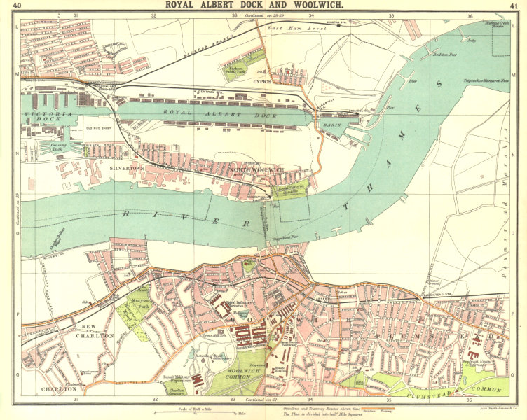 Associate Product LONDON E. Albert Dock Woolwich Plumstead Charlton Beckton Silvertown 1917 map