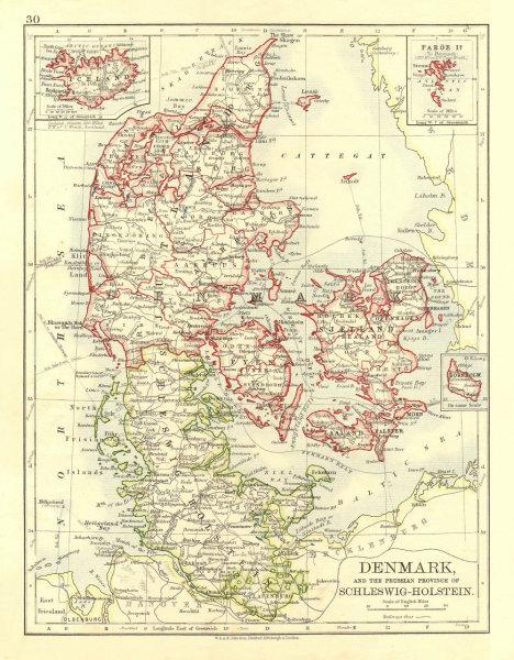 Associate Product DENMARK SLESVIG-HOLSTEN. Prussian Schleswig-Holstein.  JOHNSTON 1906 old map