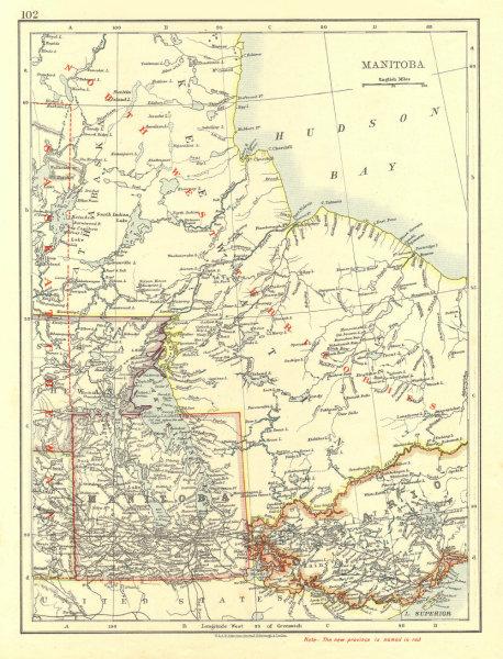 Associate Product MANITOBA. Winnipeg Canadian Pacific Railroad Keewatin Canada. JOHNSTON 1906 map
