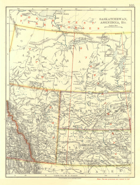 Associate Product CANADA PRAIRIES. Showing both new and old provinces.  JOHNSTON 1906 map