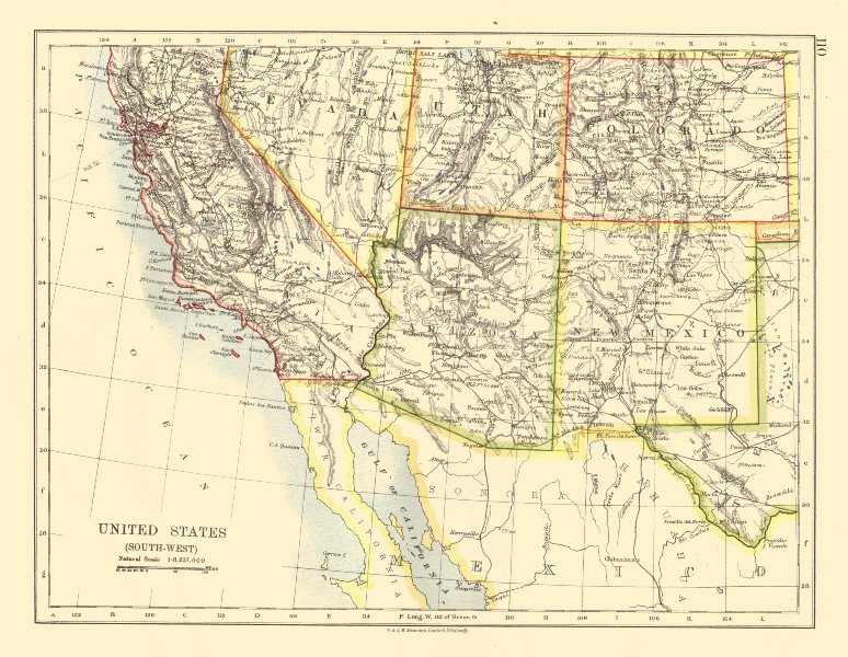 USA SOUTH WEST. California Arizona NM Colorado Utah Nevada. JOHNSTON ...