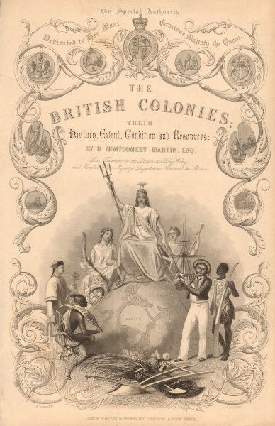 'BRITISH COLONIES'  Title page. TALLIS. History extent condition resources 1849
