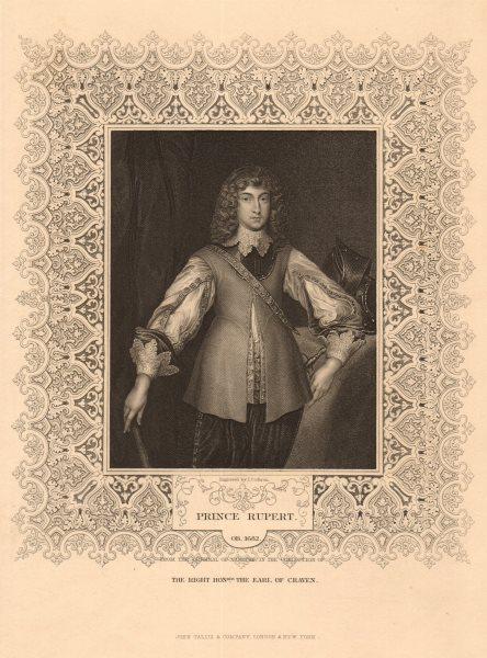 Associate Product BRITISH HISTORY. Prince Rupert. TALLIS 1849 old antique vintage print picture
