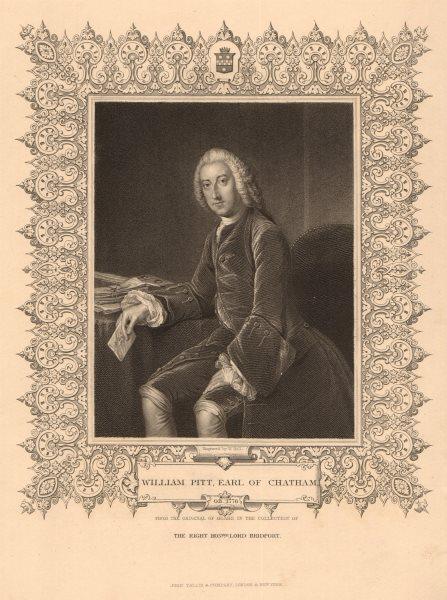 Associate Product BRITISH HISTORY. William Pitt, Earl of Chatham. Pitt the Elder. TALLIS 1849