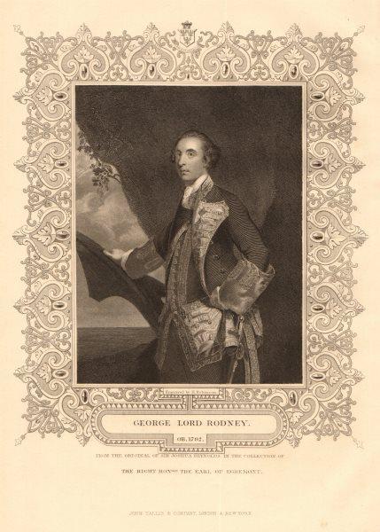 Associate Product BRITISH HISTORY. George Lord Rodney. Battle of the Saintes. TALLIS 1849 print