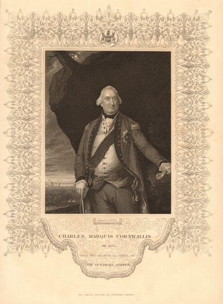 Associate Product BRITISH HISTORY. Charles, Marquis Cornwallis. American Revolutionary War 1849