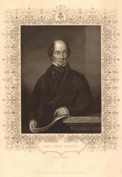 Associate Product BRITISH HISTORY. Lord John Russell, Earl Russell. Prime Minister. TALLIS 1849