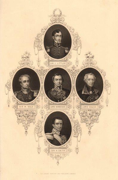 Associate Product BRITISH HISTORY. Sir J Littler/R Sale/H Smith. Lords Hardinge/Gough. TALLIS 1849